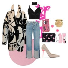 """flamingo #1"" by esther-mdln on Polyvore featuring Colonial Mills, rag & bone, Boohoo, Sophia Webster, Chiara Ferragni, Yazbukey and Christian Dior"