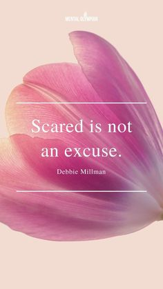 Scared is not an excuse - Debbie Millman Enjoy Quotes, Self Love Quotes, Inspirational Quotes For Women, Motivational Quotes, Be Inspired Quotes, Personal Development Skills, Debbie Millman, How To Become Happy, Encouragement Quotes