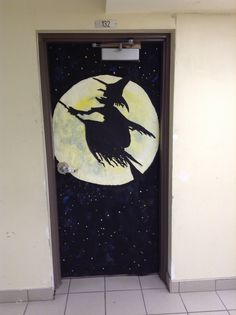 Another remarkable entry in the Halloween door decorating contest.  All doors are designed and painted by students.