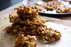 This recipe for a not-too-sweet, olive-oil and honey-enriched granola can be used as a template Vary the types and amounts of puffed and rolled (also called flaked) grains, coconut and nuts to suit your taste, as long as you use eight cups altogether And feel free to add chopped dried fruit at the end, stirring it into the granola mix while it's still warm