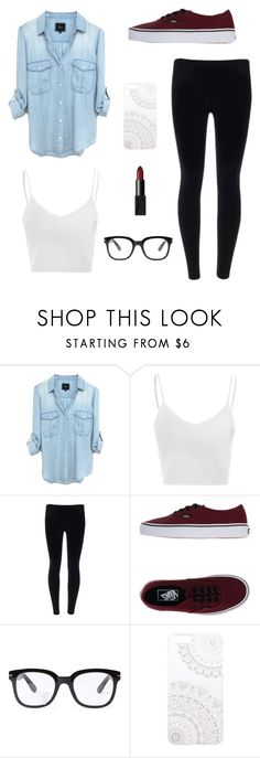 """""""casual"""" by angiee125 ❤ liked on Polyvore featuring Glamorous, Vans, Forever 21, Monika Strigel and NARS Cosmetics"""