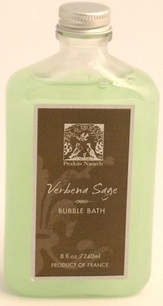 Pre de Provence Bubble Bath, Verbena/Sage, 8 ounces Bottle by Pre de Provence. $13.17. Made in France.. Luxury bath foam in every use.. Convenient 8 ounce bottle.. Verbena Sage scent is more masculine with the sage undertones. Gorgeous, sophisticated, bubbly Bubble Baths.  Bathe yourself in fragrant luxury with our intense moisturizing bubble bath, infused with coconut oil and vitamin B5 to help soften and nourish the skin.. Save 29% Off!