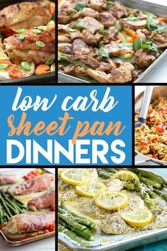 10 Easy & Low Carb Sheet Pan Dinners - from all the best bloggers out there!