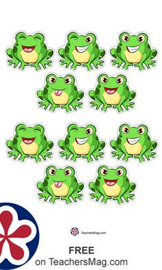 Free Five Little Speckled Frogs Printable Counting Game Learning Numbers Preschool, Preschool Arts And Crafts, Numbers Kindergarten, 18 Month Old Activities, Frog Activities, Welcome To School, Frog Theme, Counting Games, Five Little