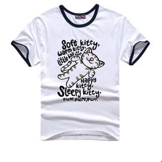college 2014 Summer New Men's The big bang theory t shirts short sleeve cotton the happy kitty t-shirts $12.99