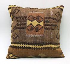 Kilim Pillow Cover Decorative Pillow Handmade Pillow Vintage Pillow Turkish Pillow Throw Pillow Kilim Pillow Kilim Cushion by TurqArts 20x20 Pillow Covers, Cushion Covers, Handmade Pillows, Decorative Pillows, Kilim Cushions, Throw Pillows, Geometric Pillow, Vintage Pillows, Bohemian Pillows