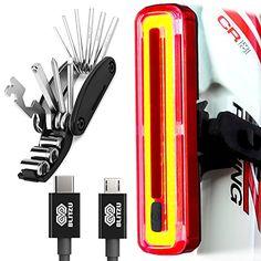 ULTRA BRIGHT Bike Light Blitzu Cyborg 180T USB Rechargeab...