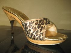 Leopard Shoes 1950'sMetal Tipped Stiletto Heel on by VintageVarla, $110.00