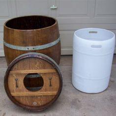 tonneau transform en poubelle cave pinterest tonneaux poubelle et gain de place. Black Bedroom Furniture Sets. Home Design Ideas