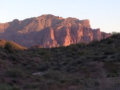 Superstitions at Sunset, Gold Canyon AZ