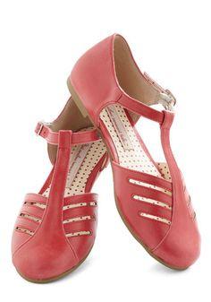 Arrow Margin Flat by Bait Footwear - Coral, Solid, Cutout, Flat, Leather, Spring