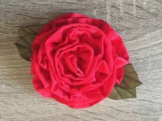 DIY How to Make a Beautiful Fabric Flower - YouTube