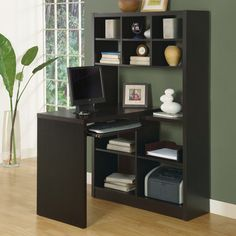 Cappuccino Hollow-Core Left Or Right Side Corner Desk contemporary-desks