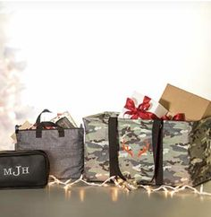 Gifts for him ! Pack up camping gear, sports equipment, items for your car or truck, and use for storage for any hunting or fishing accessories and more ! This Tote can hold up to 50lbs can collapse when not in use and can be personalized with a name and icon or saying ! Visit ToteMom.com and let the fun holiday shopping begin!
