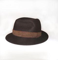 8726ebe684e Borsalino Felt Hat Brown Borsalino felt hat by FrenchVintageShop