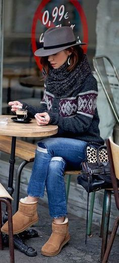 #winter #fashion / knit layers                                                                                                                                                                                 More