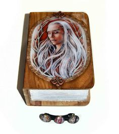 Jewellery box and Hair barrette  Elven King king of the