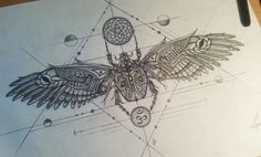 Scarab tattoo design. UNDER CHEST