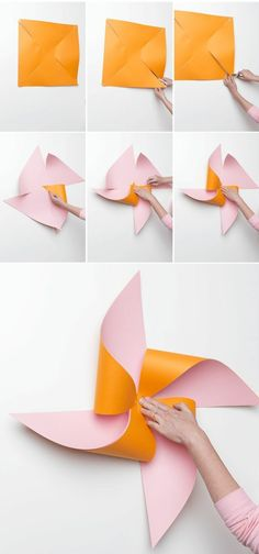 DIY giant flower pinwheel is part of Giant Flower crafts Learn to make this DIY giant flower pinwheel, perfect for summer days crafting with the kids - Kids Crafts, Summer Crafts, Diy And Crafts, Arts And Crafts, Paper Crafts, Art Crafts, Decor Crafts, Garden Crafts, Diy Garden Decor