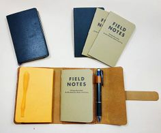 Leather Pocket Notebook Cover with Pen Loop and Snap Closure by StrideRidge.com - discount code at - eepurl.com/bLaqOH