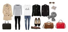 """""""Weekend Trip"""" by millaschic on Polyvore featuring STELLA McCARTNEY, Paige Denim, Tory Burch, Charlotte Olympia, FOSSIL, Knomo, Christian Dior, Jaeger, Ray-Ban and Vince"""