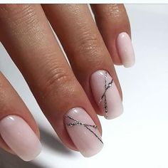 Minimalist glitter accents ❤️ For those who consider shellac nails, here … - Nail Design Ideas! - Minimalist glitter accents ❤️ For those who consider shellac nails, here … - Shellac Nail Designs, Nail Art Designs, Nails Design, Neutral Nail Designs, Nail Designs Spring, Shellac Nails Glitter, Summer Shellac Nails, Acrylic Nails, Nail Summer