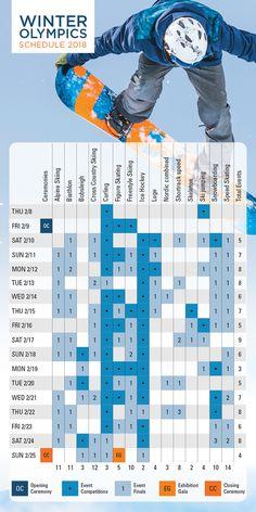 Winter Olympics Schedule 2018