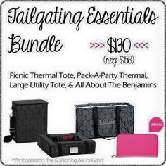 Thirty-One Gifts - Tailgating Essentials! #ThirtyOneGifts #ThirtyOne #JewellByThirtyOne #Monogramming #Organization #JanuarySpecial