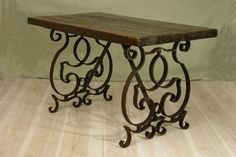 Wood & iron table