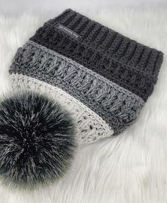 Crochet Crafts, Crochet Yarn, Crochet Projects, Knitting Projects, Knitting Patterns, Crochet Patterns, Stitch Patterns, Hat Patterns, Motifs Beanie