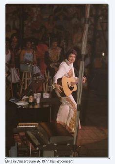 Elvis Presley on stage during his last concert.