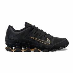 63e7c616c6 Men's Nike Reax 8 TR Mesh Cross Training Shoes Size 13 M Black/Gold NEW