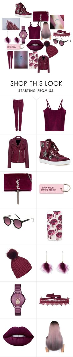 """""""#52"""" by astrangeevent on Polyvore featuring Barbour, WithChic, IRO, Lola Cruz, Yves Saint Laurent, Various Projects, Spitfire, Miss Selfridge, Michael Kors and Anna Sui"""