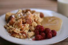 Kaiserschmarrn Recipe Dumplings, Crepes, Oatmeal, Meals, Chocolate, Breakfast, Desserts, Food, Kaiserschmarrn