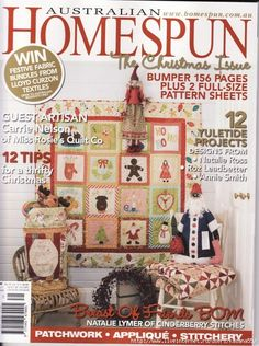 Homespun The Christmas Issue complete met quilt choir of angels