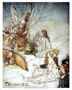 Titania with her Fairies, by Arthur Rackham