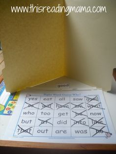 sight word guess who by @Becky Hui Chan Hui Chan @ This Reading Mama