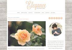 Elegance - Feminine WordPress Theme by Beautiful Dawn Designs on @creativemarket