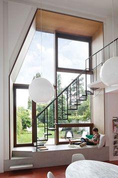 Corrimano e ringhiere per scale interne dal design moderno n.13