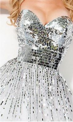Disco Ball Dress - so do you wear roller skates with this?  :)