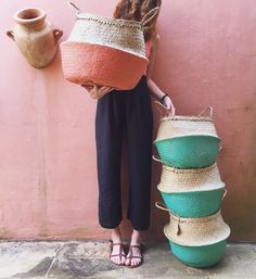 Vietnamese Baskets by Olli Ella (Belly Baskets). Spring essential