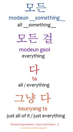 ❋Learn Korean everything Korean Words Learning, Korean Language Learning, Language Study, Learn A New Language, Japanese Language, German Language, Spanish Language, French Language, Learn To Speak Korean