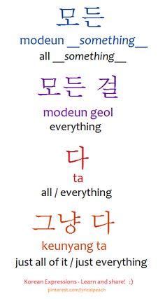 ❋Learn Korean everything