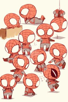 In Touch With My Inner Cuteness — theamazingpeterbenjaminparker: Chibi Spider-Man. Deadpool X Spiderman, Spiderman Chibi, Spiderman Cute, Spiderman Kunst, Spiderman Sketches, Batman, Marvel Comics, Chibi Marvel, Marvel Funny