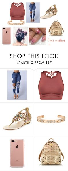 """""""She's waiting <3"""" by mrsluxurious ❤ liked on Polyvore featuring René Caovilla, Gucci, Belkin, Essie and MCM"""