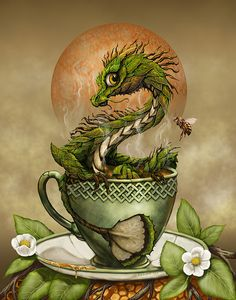 Tea Dragon Print by Stanley Morrison
