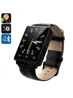 Smart Bluetooth Watch (Black) with Android Bluetooth Wi-Fi, GPS, Pedometer, Barometer Pc Android, Android Watch, Smartwatch, Bluetooth Watch, Unlocked Phones, Fitness Watch, Technology Gadgets, Dual Sim, Sport Watches