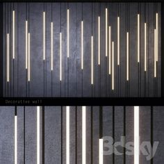 models: Other decorative objects - Decorative light panel _ Wall Light Panels, Wall Cladding Interior, Concrete Wall Panels, Acoustic Wall Panels, Wall Panel Design, Retail Facade, Hall Interior, Wall Treatments, Light Decorations