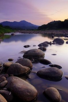 Rocks And River. Sunset At Borneo, Sabah, Malaysia Royalty Free Stock Photo, Pictures, Images And Stock Photography. Image 16893828.