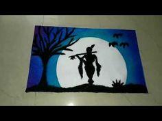Sky Art Painting, Art Drawings Simple, Easy Disney Drawings, Art Drawings For Kids, Krishna Drawing, Saree Painting Designs, Poster Rangoli, African Art Paintings